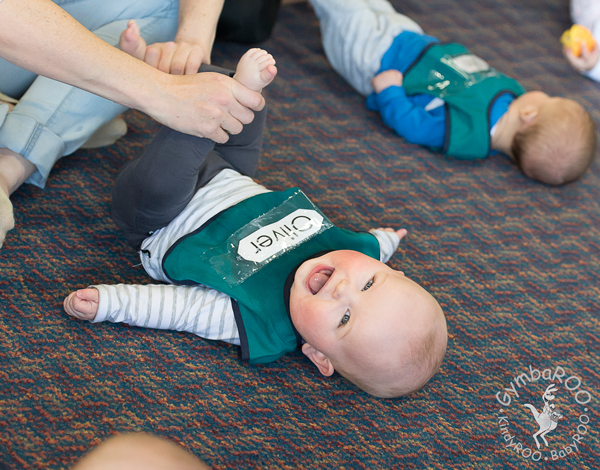 Baby loving exercise at BabyROO GymbaROO Article on preventing paediatric obesity