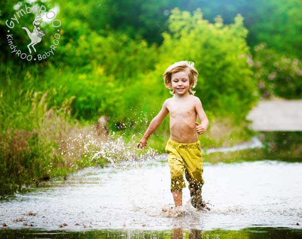 Childrens' attention spans increased by outdoor play. GymbaROO BabyROO