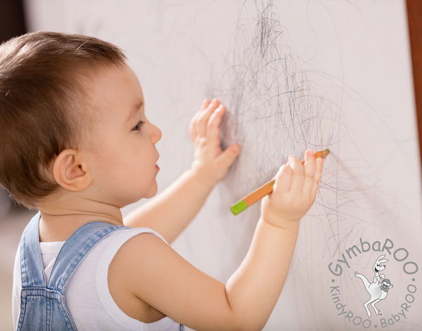 Scribbles lines and swirls develop drawing skills GymbaROO BabyROO