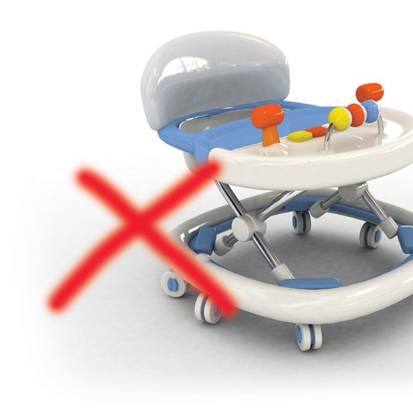 "Say ""No"" to baby walkers"