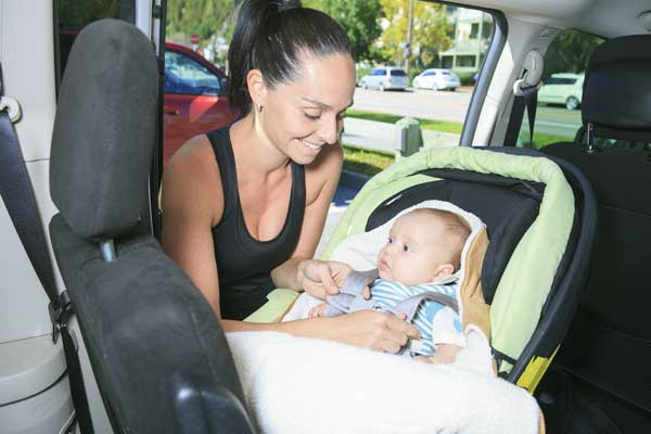 Never let babies sleep in car seats / capsules, out of the car